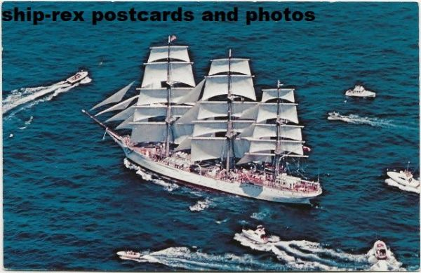 DAR POMORZA (sail training ship) postcard (a)
